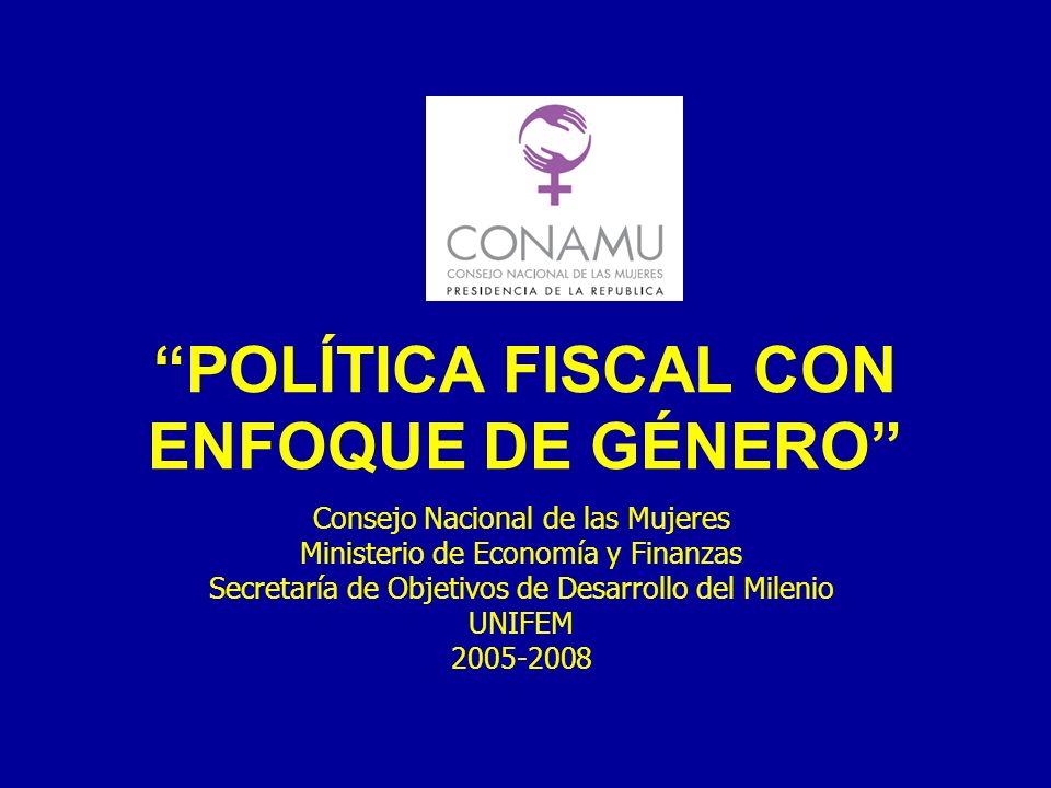 POLÍTICA FISCAL CON ENFOQUE DE GÉNERO