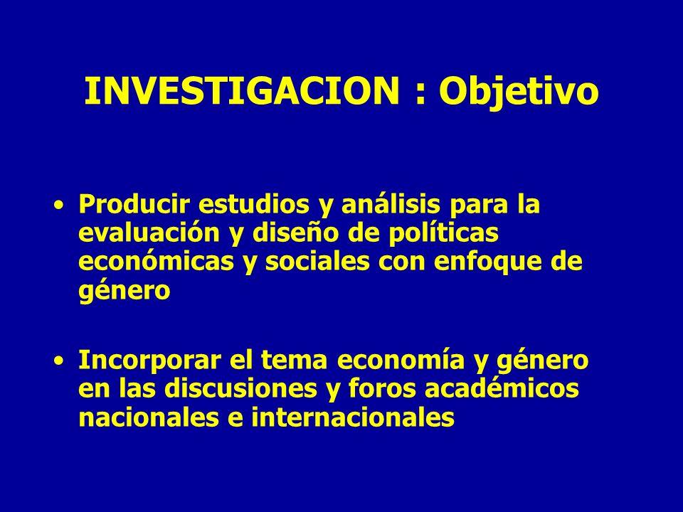 INVESTIGACION : Objetivo