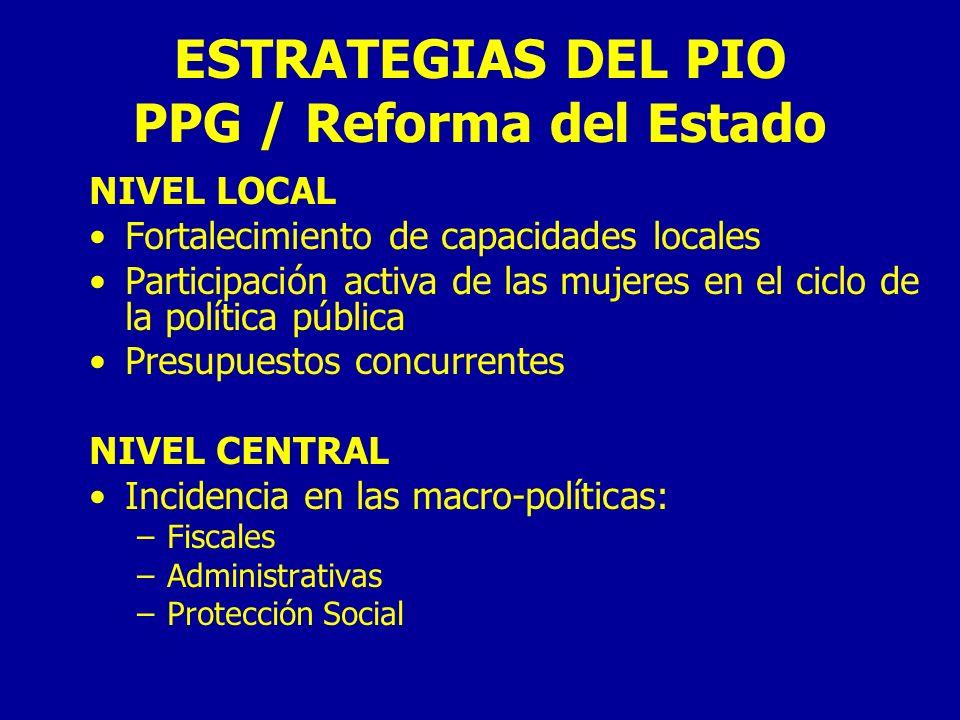 ESTRATEGIAS DEL PIO PPG / Reforma del Estado