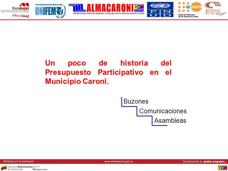 Un poco de historia del Presupuesto Participativo en el Municipio Caroni.