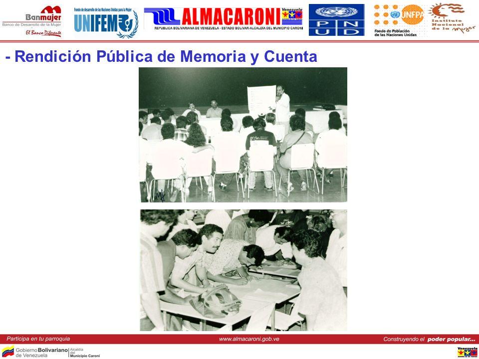 - Rendición Pública de Memoria y Cuenta