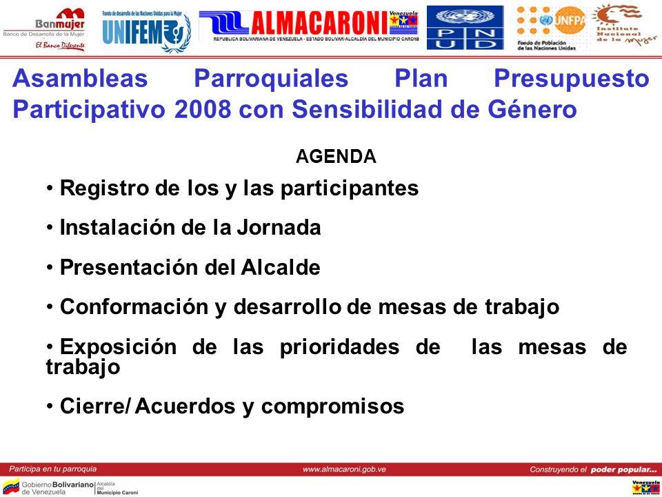 Asambleas Parroquiales Plan Presupuesto Participativo 2008 con Sensibilidad de Género