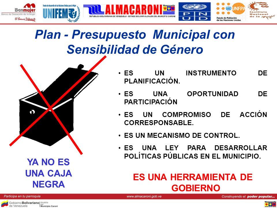 Plan - Presupuesto Municipal con Sensibilidad de Género