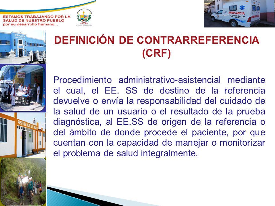 DEFINICIÓN DE CONTRARREFERENCIA (CRF)