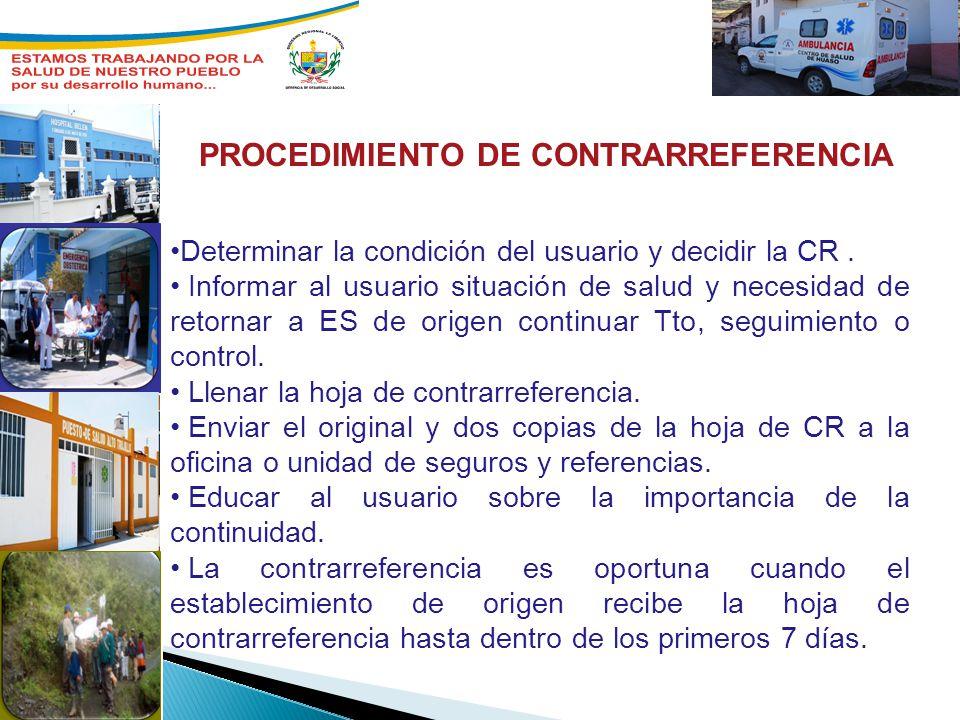 PROCEDIMIENTO DE CONTRARREFERENCIA