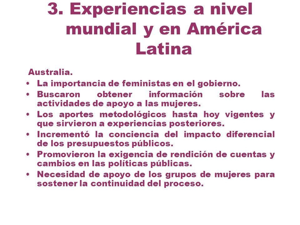 3. Experiencias a nivel mundial y en América Latina