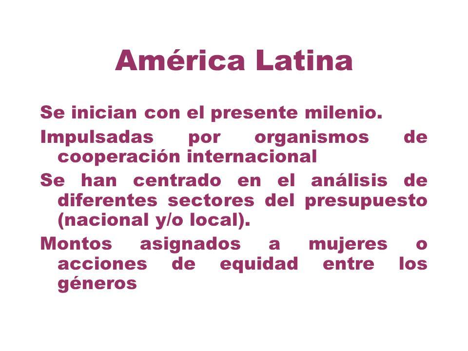 América Latina Se inician con el presente milenio.