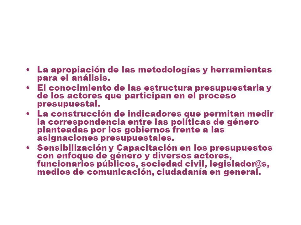 La apropiación de las metodologías y herramientas para el análisis.