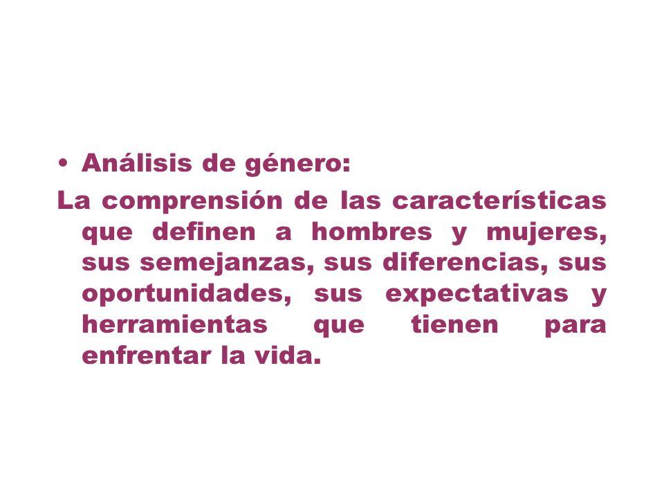 Análisis de género: