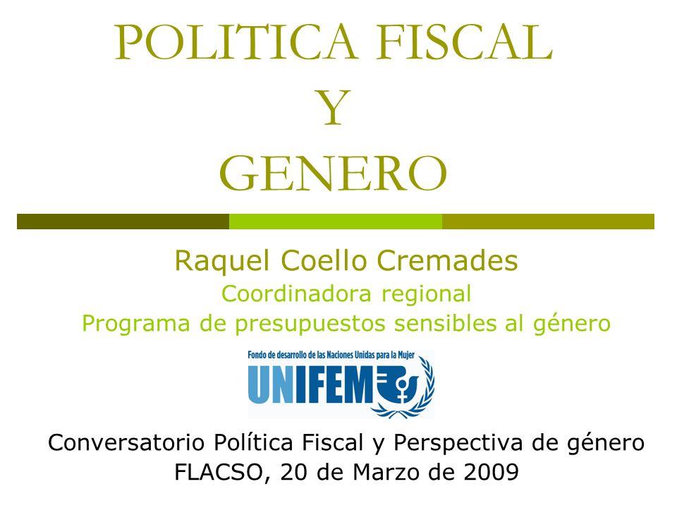 POLITICA FISCAL Y GENERO