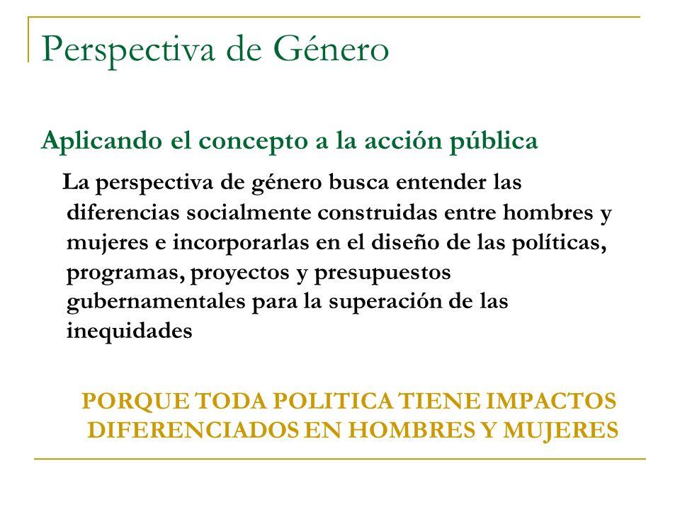PORQUE TODA POLITICA TIENE IMPACTOS DIFERENCIADOS EN HOMBRES Y MUJERES
