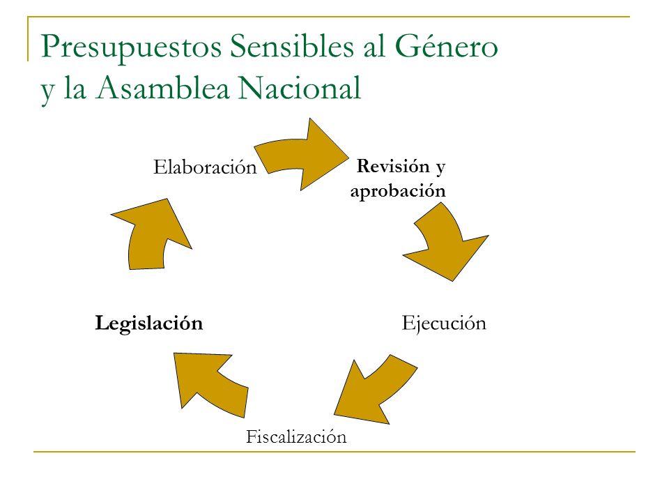 Presupuestos Sensibles al Género y la Asamblea Nacional