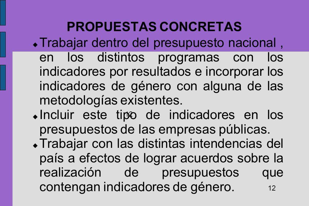 PROPUESTAS CONCRETAS