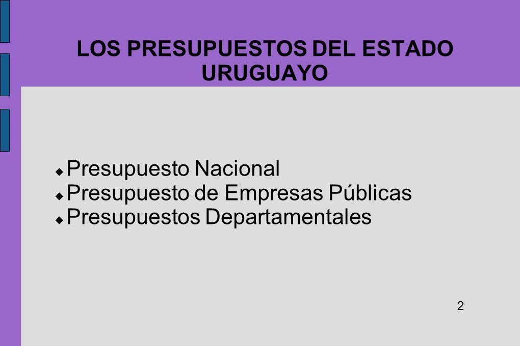 LOS PRESUPUESTOS DEL ESTADO URUGUAYO