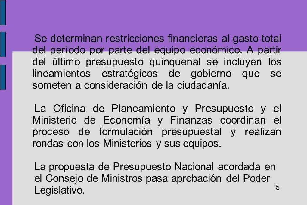 La propuesta de Presupuesto Nacional acordada en