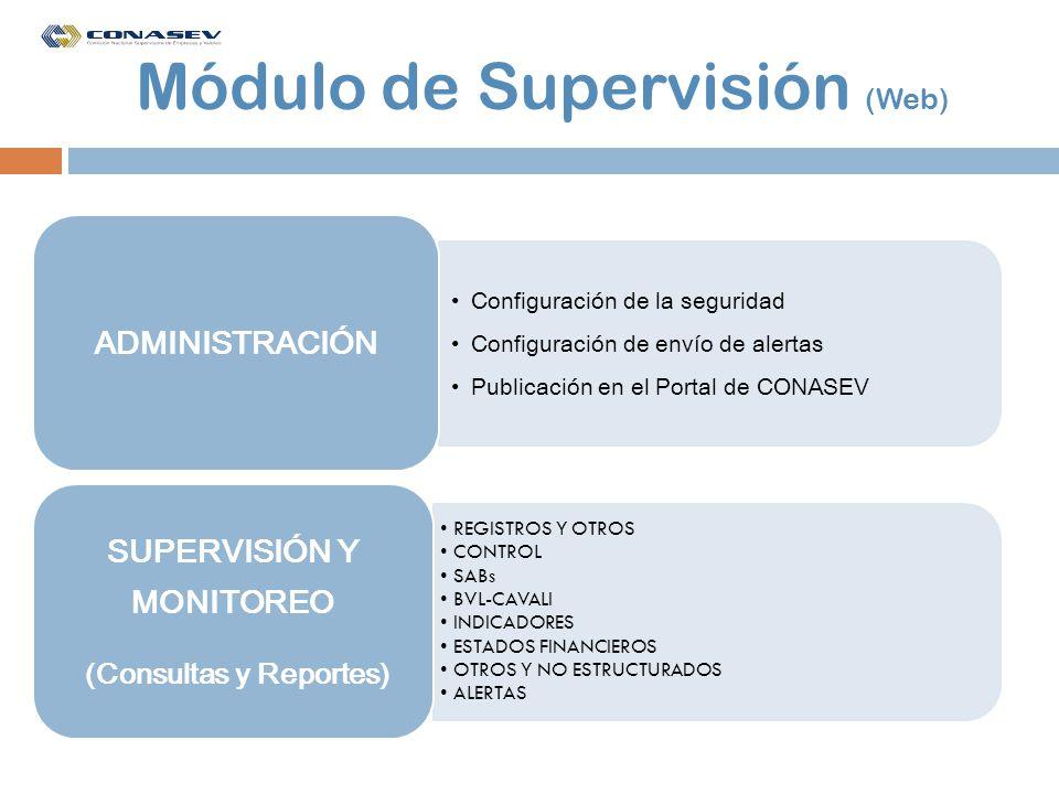 Módulo de Supervisión (Web)