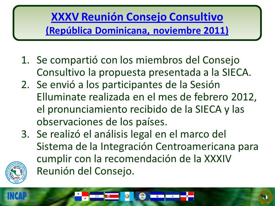 XXXV Reunión Consejo Consultivo (República Dominicana, noviembre 2011)