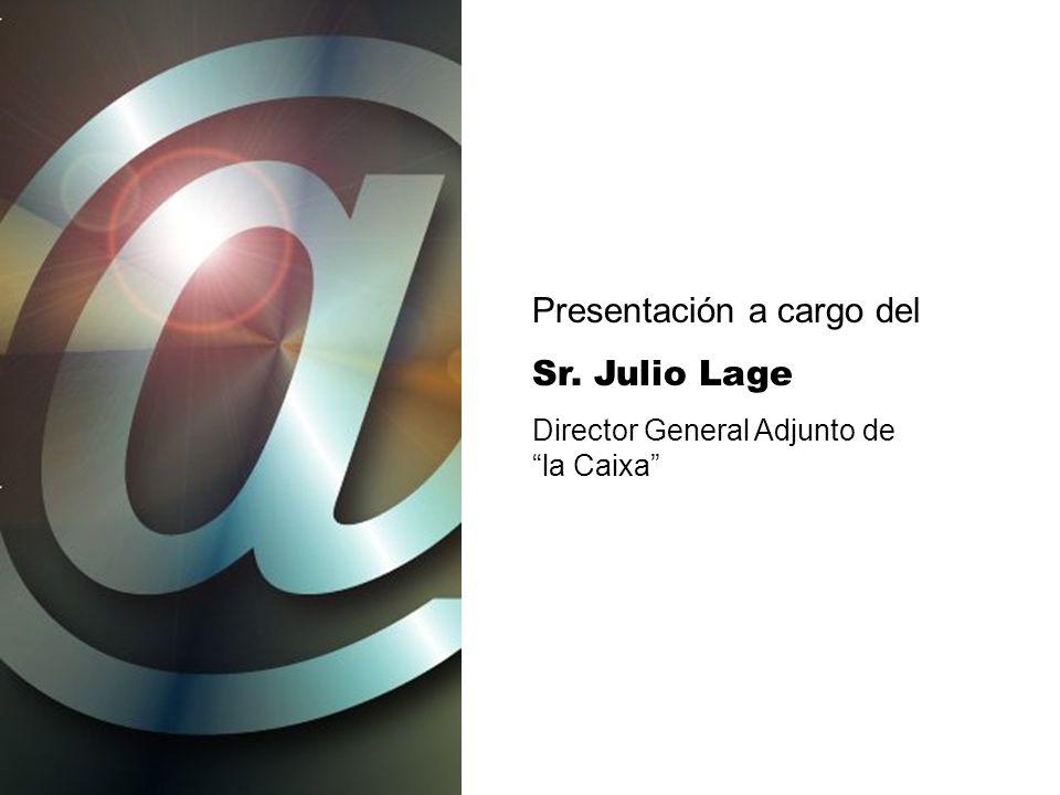 Presentación a cargo del Sr. Julio Lage