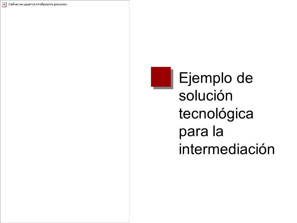 Ejemplo de solución tecnológica para la intermediación