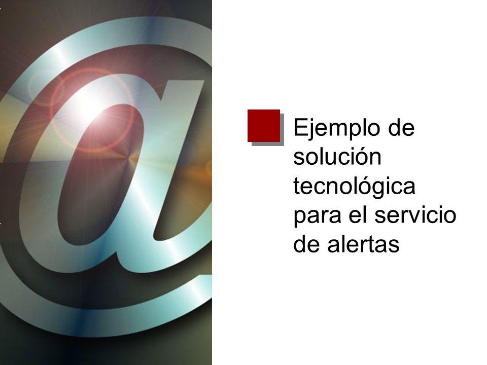 Ejemplo de solución tecnológica para el servicio de alertas