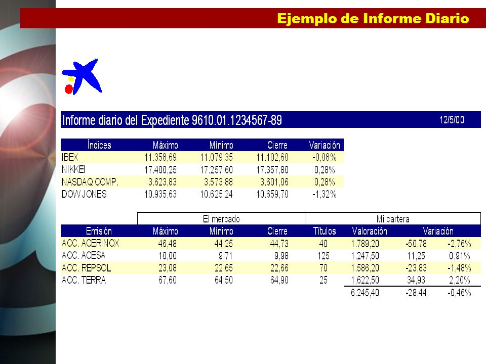 Ejemplo de Informe Diario