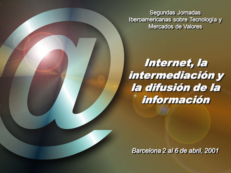 Internet, la intermediación y la difusión de la información