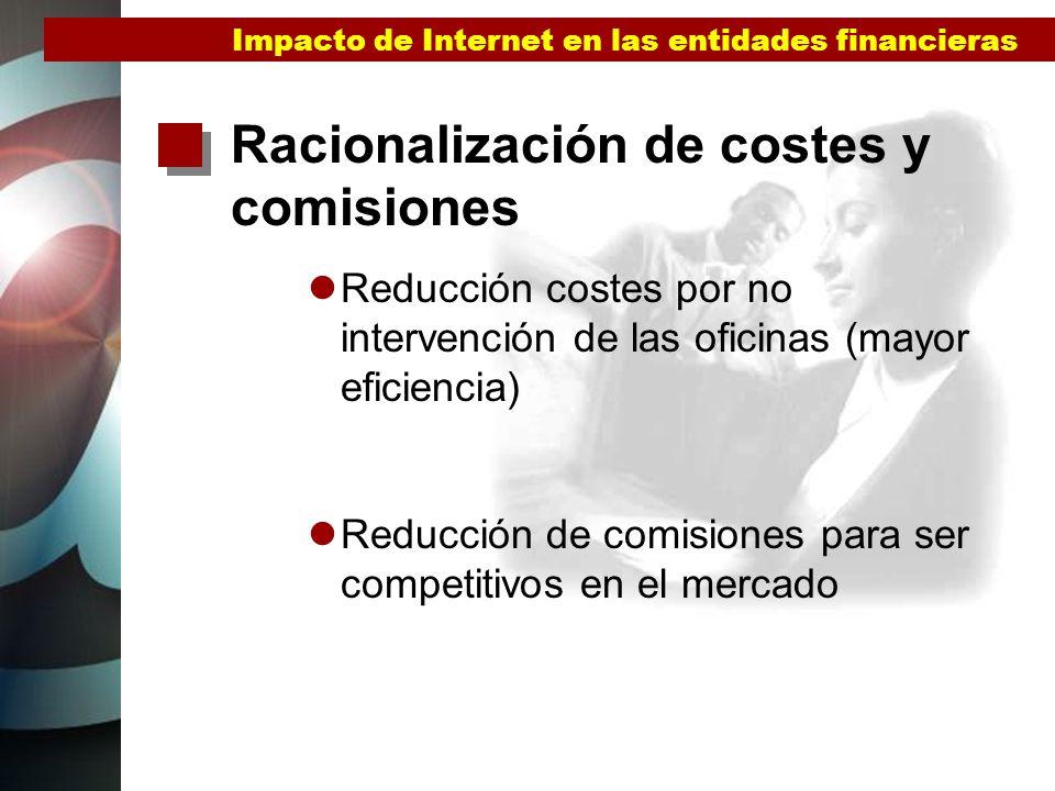 Racionalización de costes y comisiones