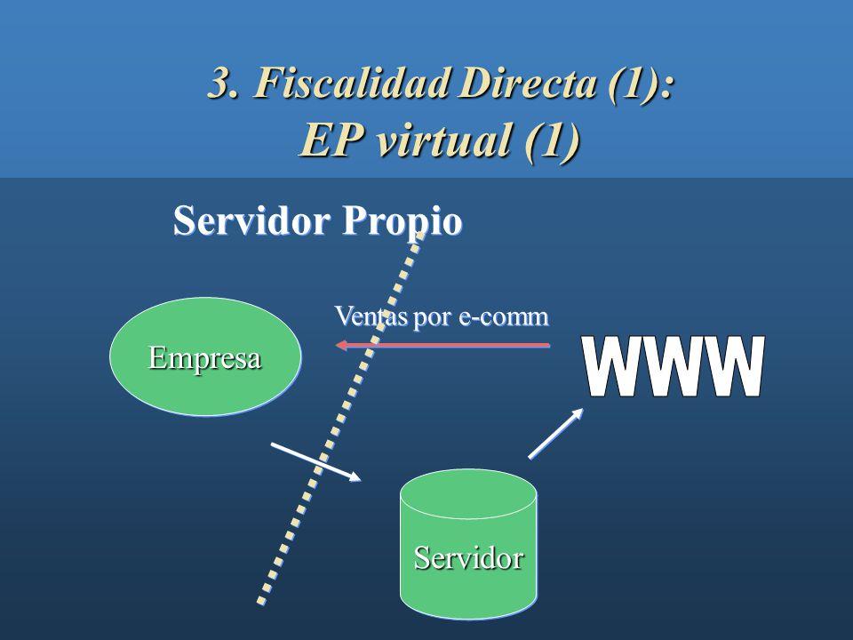 3. Fiscalidad Directa (1): EP virtual (1)