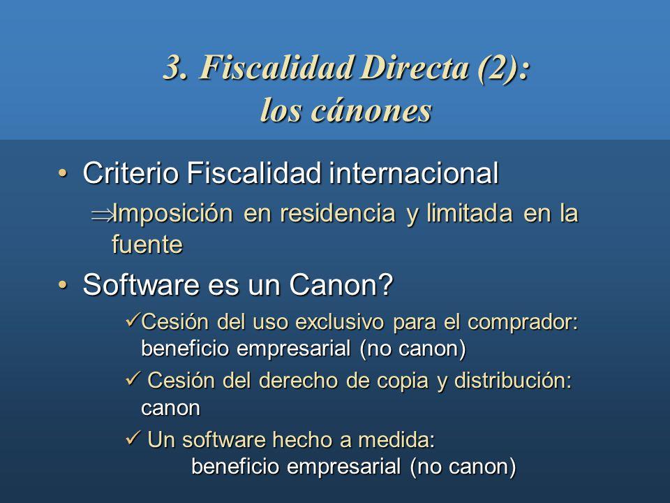 3. Fiscalidad Directa (2): los cánones