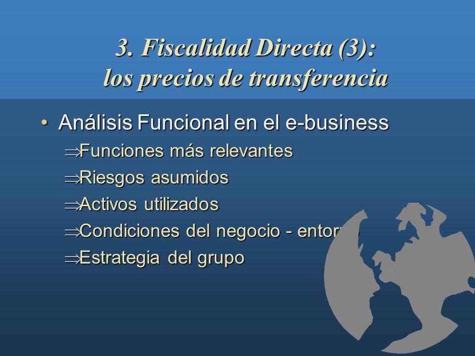 3. Fiscalidad Directa (3): los precios de transferencia