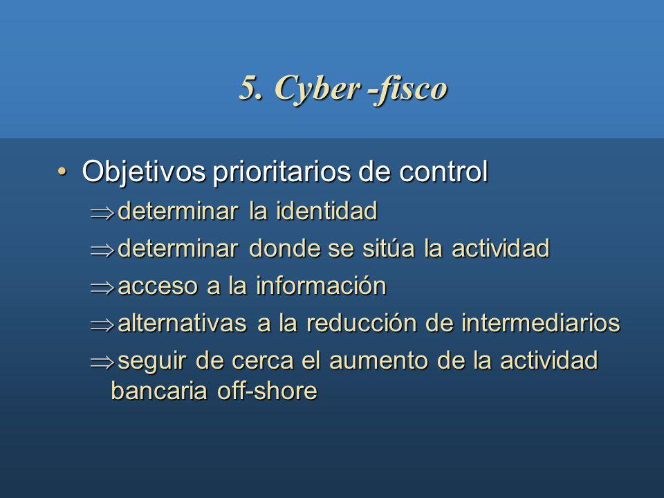 5. Cyber -fisco Objetivos prioritarios de control