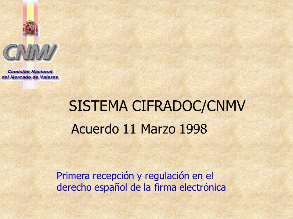 SISTEMA CIFRADOC/CNMV