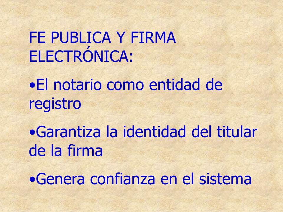 FE PUBLICA Y FIRMA ELECTRÓNICA:
