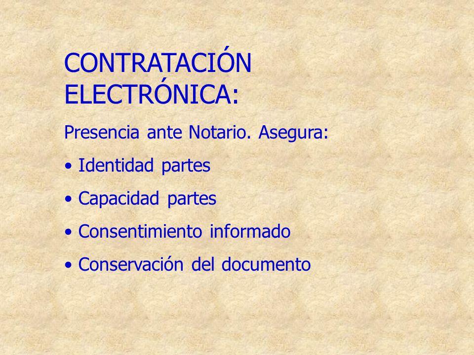 CONTRATACIÓN ELECTRÓNICA: