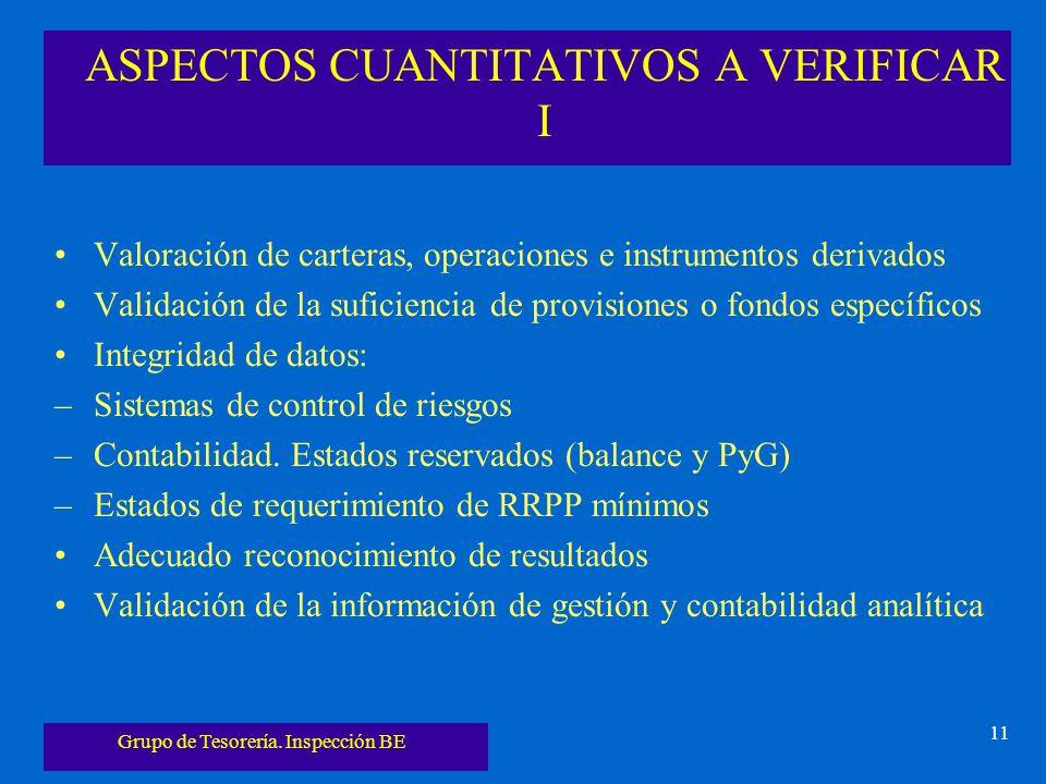 ASPECTOS CUANTITATIVOS A VERIFICAR I