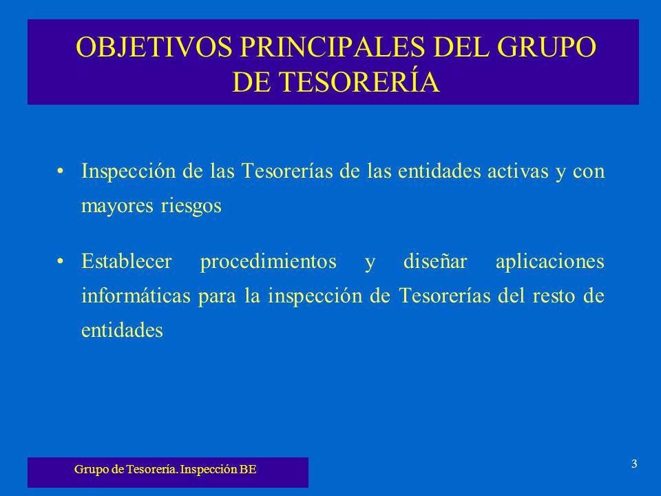 OBJETIVOS PRINCIPALES DEL GRUPO DE TESORERÍA