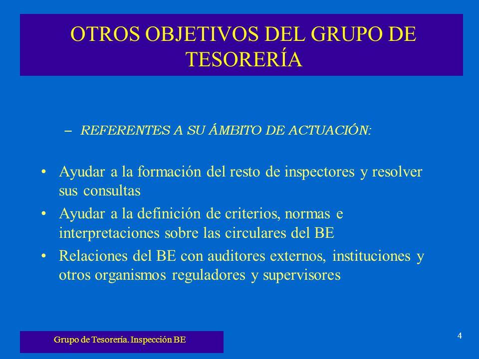 OTROS OBJETIVOS DEL GRUPO DE TESORERÍA