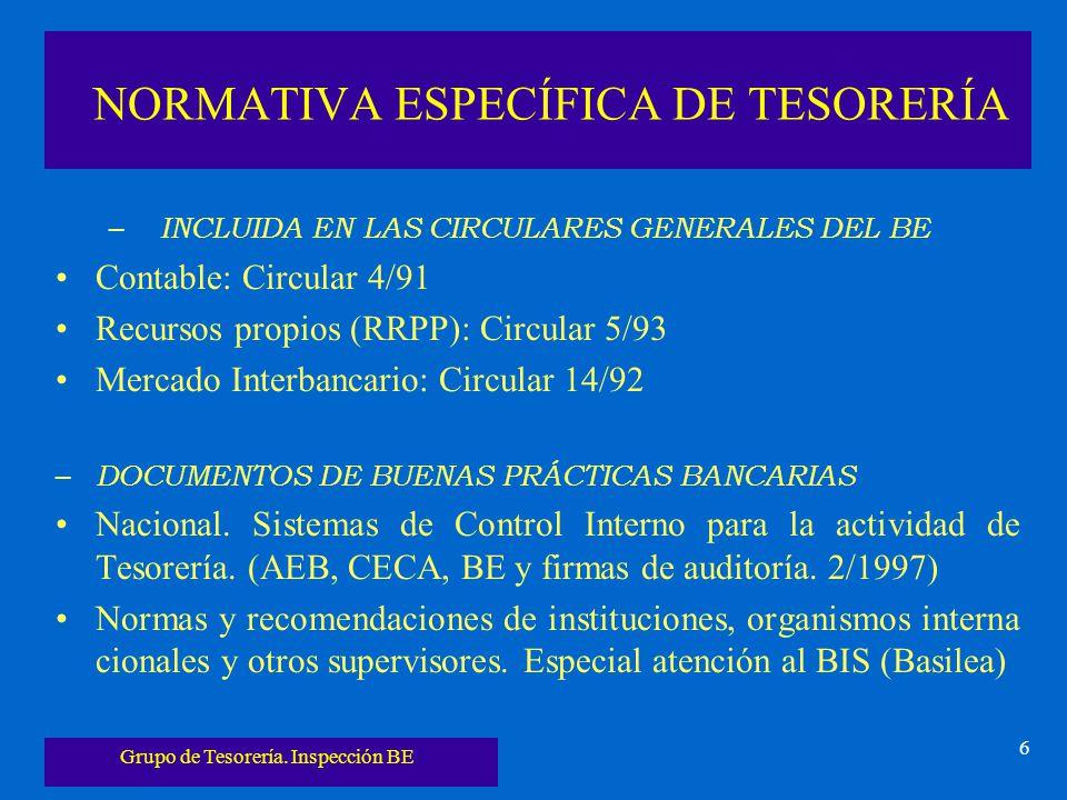 NORMATIVA ESPECÍFICA DE TESORERÍA