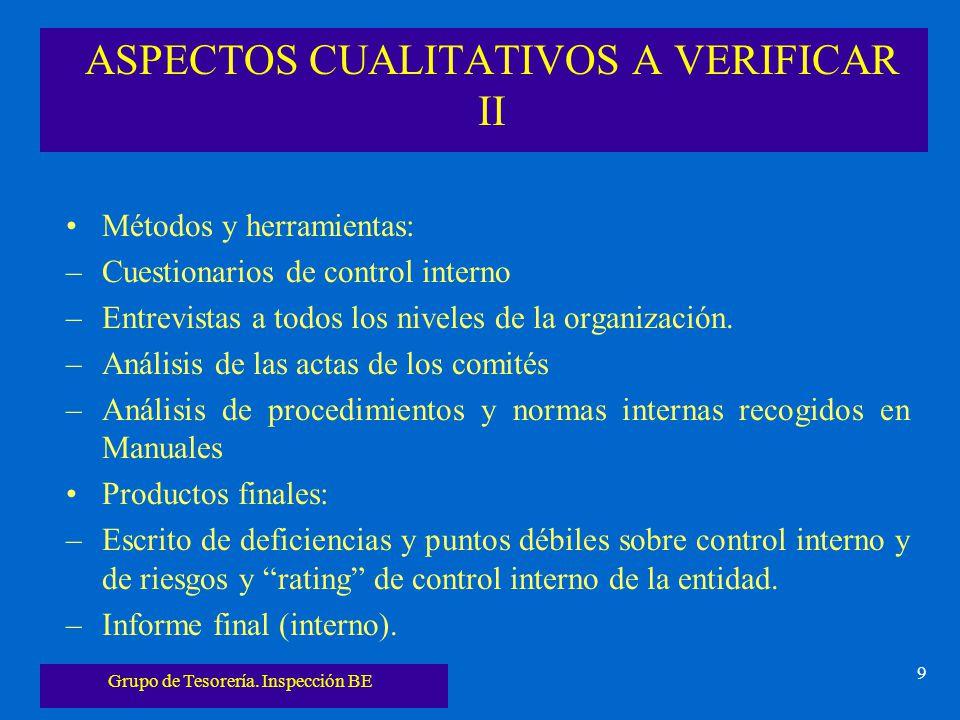 ASPECTOS CUALITATIVOS A VERIFICAR II