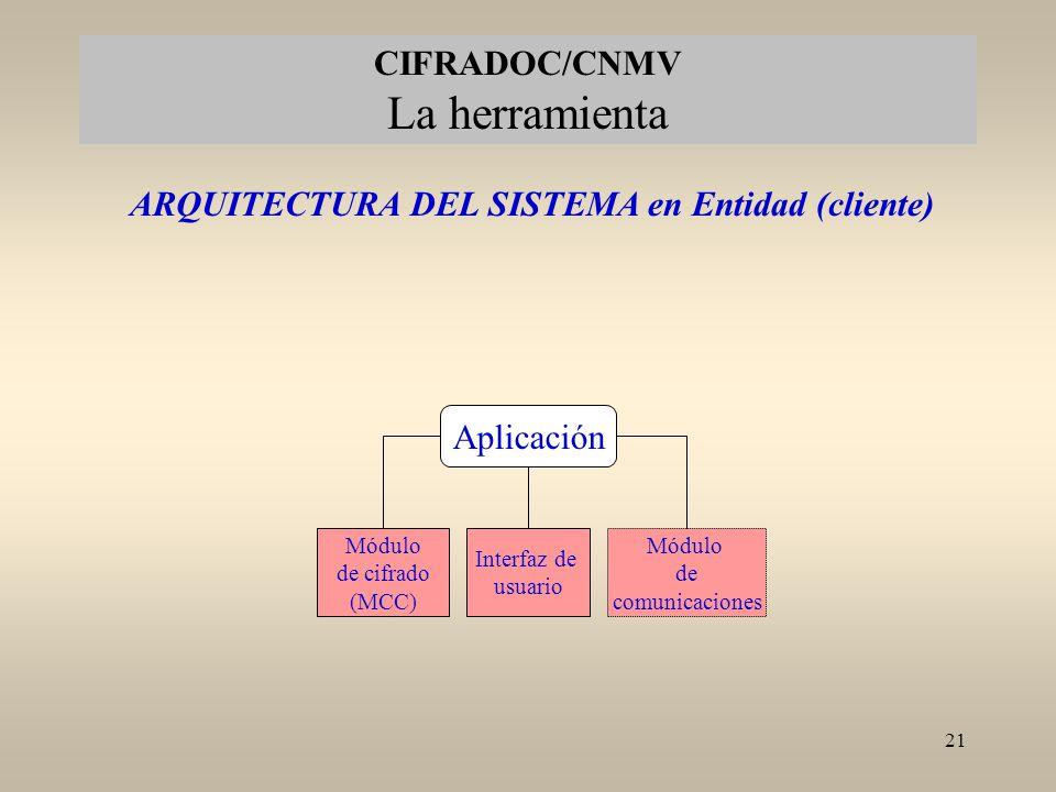 ARQUITECTURA DEL SISTEMA en Entidad (cliente)