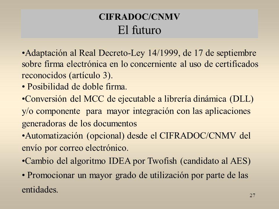 CIFRADOC/CNMV El futuro
