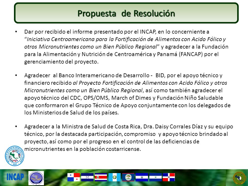 Propuesta de Resolución