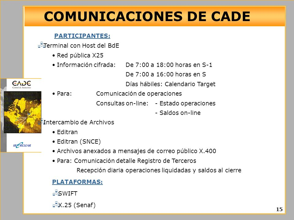COMUNICACIONES DE CADE
