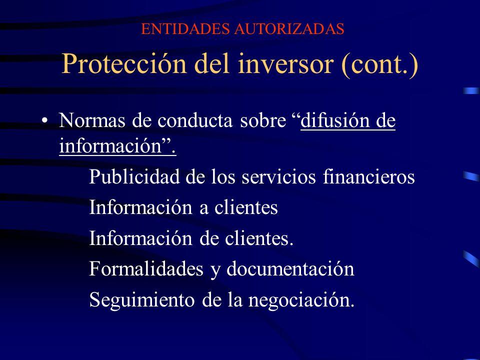 Protección del inversor (cont.)