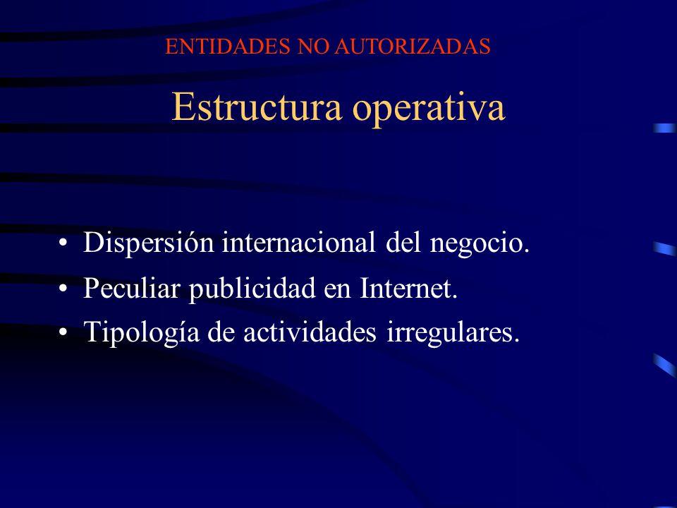 Estructura operativa Dispersión internacional del negocio.