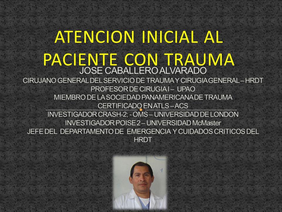 ATENCION INICIAL AL PACIENTE CON TRAUMA