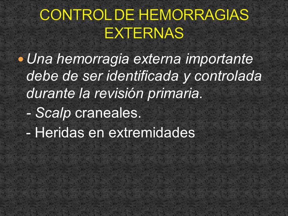 CONTROL DE HEMORRAGIAS EXTERNAS