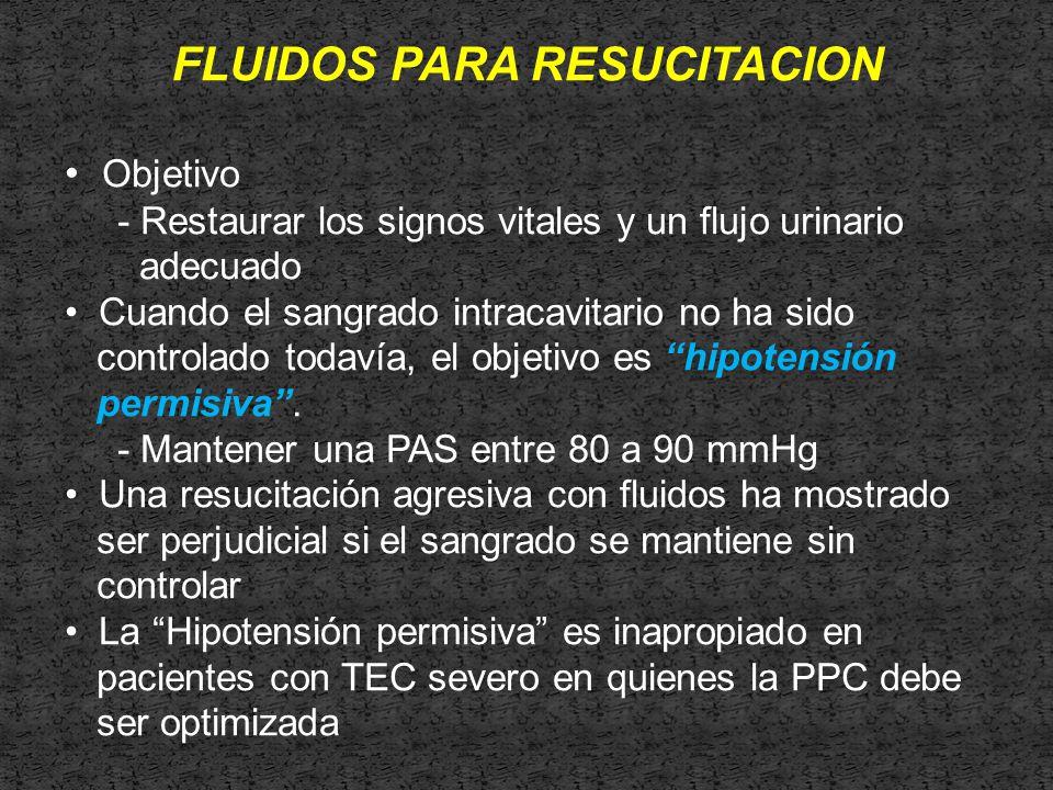 FLUIDOS PARA RESUCITACION