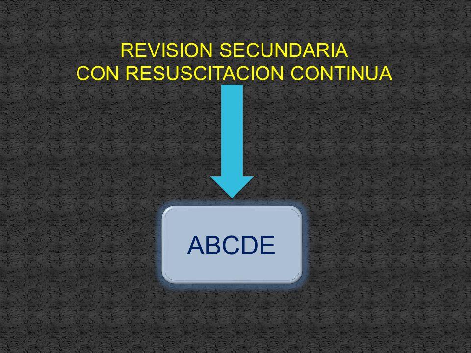 REVISION SECUNDARIA CON RESUSCITACION CONTINUA