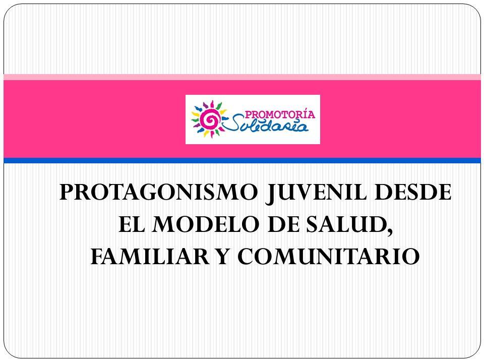 PROTAGONISMO JUVENIL DESDE EL MODELO DE SALUD, FAMILIAR Y COMUNITARIO